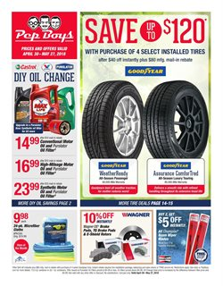Tires deals in the Pep Boys weekly ad in New York