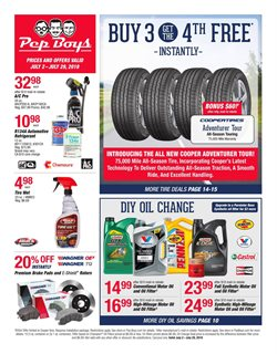 Brakes deals in the Pep Boys weekly ad in New York