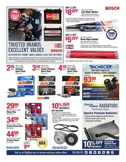 Wipers deals in the Pep Boys weekly ad in New York