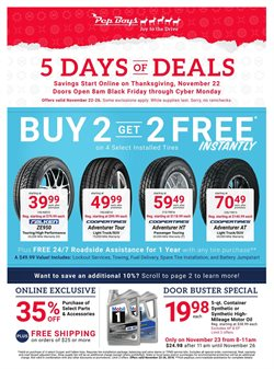 Automotive deals in the Pep Boys weekly ad in Harrisburg PA