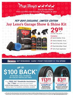 Car wheels deals in the Pep Boys weekly ad in New York