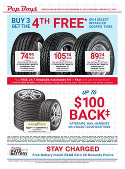 Pep Boys deals in the Federal Way WA weekly ad