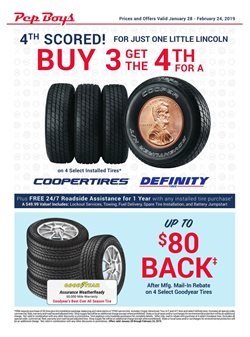 Pep Boys deals in the Stone Mountain GA weekly ad