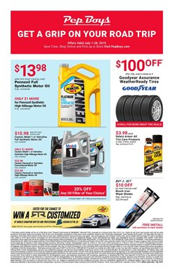 Pep Boys deals in the Salt Lake City UT weekly ad