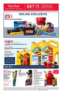 Pep Boys catalogue in Palm Harbor FL ( 16 days left )