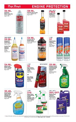 Cleaners deals in Pep Boys