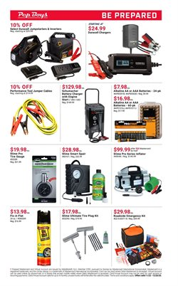 Chargers deals in Pep Boys
