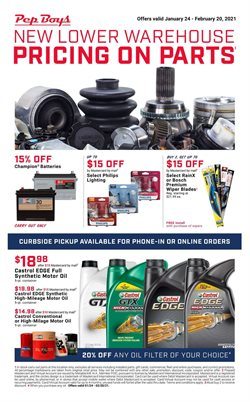 Automotive offers in the Pep Boys catalogue in Brockton MA ( Published today )