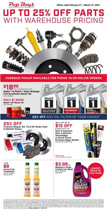 Automotive offers in the Pep Boys catalogue in Montebello CA ( 25 days left )