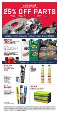 Automotive deals in the Pep Boys catalog ( 5 days left)