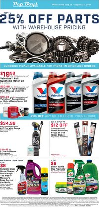 Automotive deals in the Pep Boys catalog ( 17 days left)