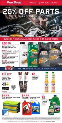 Automotive deals in the Pep Boys catalog ( 6 days left)