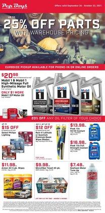 Automotive deals in the Pep Boys catalog ( Expires tomorrow)