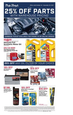 Automotive deals in the Pep Boys catalog ( Published today)