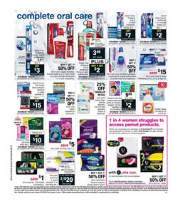 Tampons deals in the CVS Pharmacy weekly ad in New York