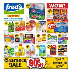 Fred's Pharmacy deals in the Little Rock AR weekly ad