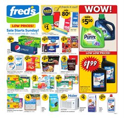 Detergent deals in the Fred's Pharmacy weekly ad in Acworth GA