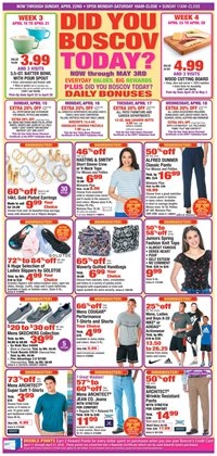 Department Stores deals in the Boscov's weekly ad in Johnstown PA
