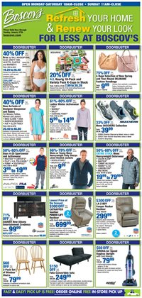 Department Stores deals in the Boscov's weekly ad in Lebanon PA