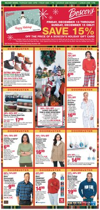 Department Stores deals in the Boscov's weekly ad in Philadelphia PA
