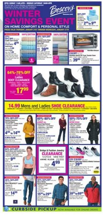 Department Stores offers in the Boscov's catalogue in Philadelphia PA ( Published today )