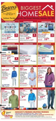 Department Stores deals in the Boscov's catalog ( Expires tomorrow)