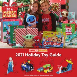 Family Dollar deals in the Family Dollar catalog ( More than a month)