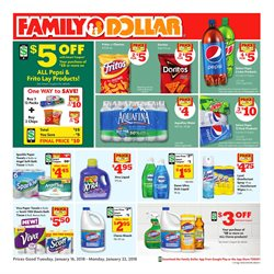 Dishwashing detergent deals in the Family Dollar weekly ad in Los Angeles CA