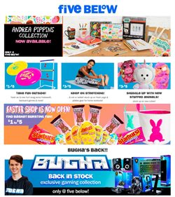Discount Stores offers in the Five Below catalogue in Saint Peters MO ( Expires tomorrow )