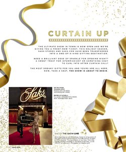 Watch deals in the Saks Fifth Avenue weekly ad in New York
