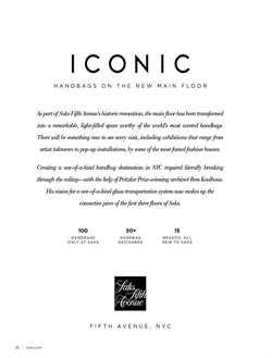 Handbag deals in the Saks Fifth Avenue weekly ad in New York