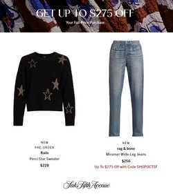 Saks Fifth Avenue deals in the Saks Fifth Avenue catalog ( 6 days left)