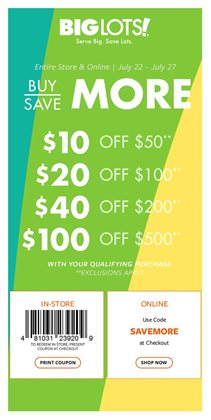 Discount Stores deals in the Big Lots weekly ad in Troy NY