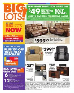 Discount Stores offers in the Big Lots catalogue in Massillon OH ( Published today )