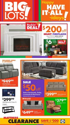 Discount Stores deals in the Big Lots catalog ( 1 day ago)