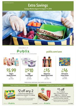 Frozen deals in the Publix weekly ad in Roswell GA