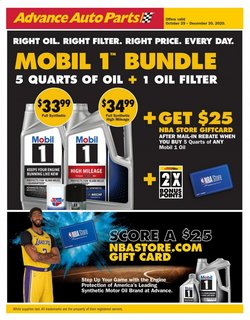 Advance Auto Parts catalogue ( 25 days left )