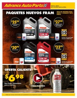 Advance Auto Parts catalogue ( Published today )