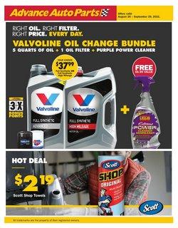 Automotive deals in the Advance Auto Parts catalog ( 11 days left)