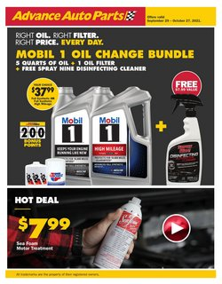 Automotive deals in the Advance Auto Parts catalog ( 3 days left)