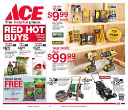 Tools & Hardware deals in the Ace Hardware weekly ad in York PA
