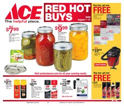 Tools & Hardware deals in the Ace Hardware weekly ad in Warren OH