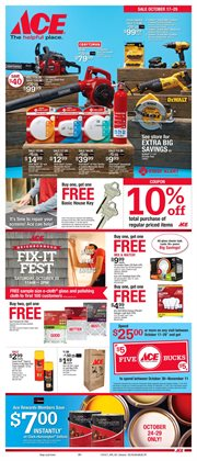 Matches deals in the Ace Hardware weekly ad in Santa Clara CA