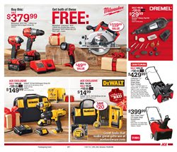 Saw deals in the Ace Hardware weekly ad in Acworth GA