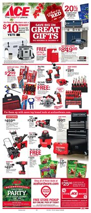 Tools & Hardware deals in the Ace Hardware weekly ad in New York