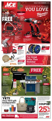 Tools & Hardware deals in the Ace Hardware weekly ad in Fort Lauderdale FL