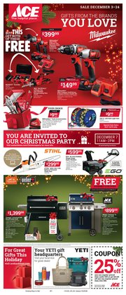 Ace Hardware deals in the Evansville IN weekly ad
