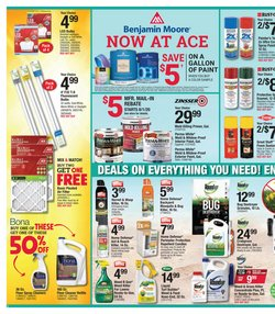 Paint deals in Ace Hardware