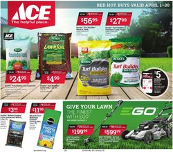 Tools & Hardware offers in the Ace Hardware catalogue in Elyria OH ( 12 days left )
