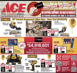 Tools & Hardware deals in the Ace Hardware catalog ( Published today)